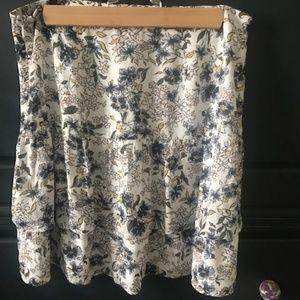 White with flower pattern skirt